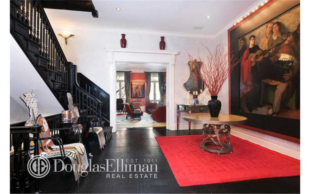 Ghislaine's townhouse 2nd floor gallery. Link to Street Easy