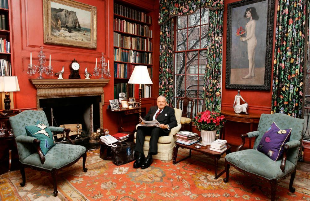 David Rockefeller. Link to Jeffrey Harris Desing.com